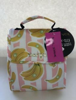 •NWT• Betsey Johnson Insulated Lunch Tote/Bag •Stripe