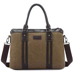 FELICIFF Office Canvas Retro European Style Briefcase Should