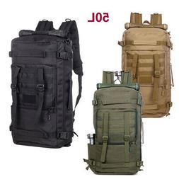 Outdoor Tactical Backpack 50L Duffel Duffle Military Molle G