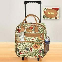 Personalized Rolling Tote Bag Tapestry Rolling Travel Bag Te