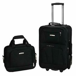 Rockland 2-Piece Polycarbonate/ABS Upright Luggage Set