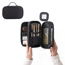 Portable Makeup Bag, WuHua Double Layer Cosmetic/Toiletry Br