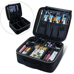 Makeup Train Case, Travel Makeup Bag Makeup Case Cosmetic Ba