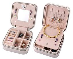 Csinos Portable Jewelry Case Travel Earring Ring Necklace Ac