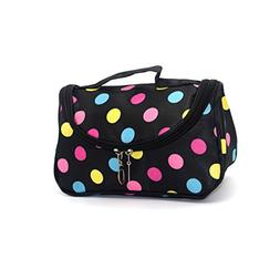 Portable Travel Small Mirror Makeup Cosmetic Bag With Brush