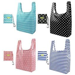 Foldable Reusable Grocery Bags Cute Designs, Folding Shoppin