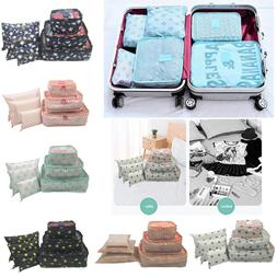 Set 6pcs Fabric Clothes <font><b>Travel</b></font> Storage <