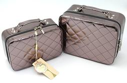 HOYOFO 2 Pieces/Set Makeup Cases Big Travel Cosmetic Bags To