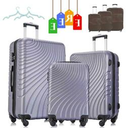Set of 3 Luggage Set Travel Bag Trolley Spinner ABS Business