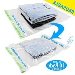 Space Saver Vacuum Bags - Compression Storage Bags For Cloth