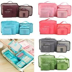 6Pcs Travel Storage Bag Waterproof Clothes Packing Cube Lugg