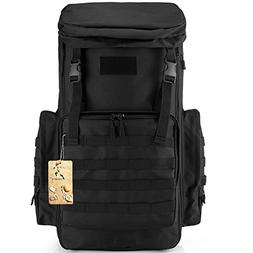 CREATOR 70-85L Large Capacity Tactical Travel Backpack MOLLE