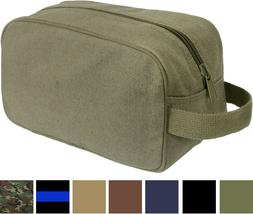 Tactical Travel Toiletry Bag Zipper Canvas Case Compact Orga