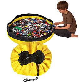 """Swoop Bags Large Toy Bag Organizer and Toy Mat - 44"""" - Yello"""