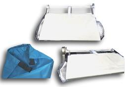 Travel Accessory Plane Tray Table Cover pockets & Clip on St
