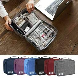 Travel Cable Bag Organizer Charger Storage Electronics USB C