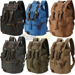 Travel Canvas Sport Rucksack Camping School Satchel Laptop H