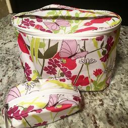 CLINIQUE Travel Cosmetic Bag  Large & Small with Zipper