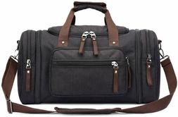 Toupons Duffel Travel 47L Bag Canvas Overnight Weekend  Gray