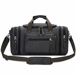 Toupons Canvas Travel Tote Luggage Men's Weekender Duffle Ba