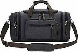 Toupons Travel Duffel Bag for Men Canvas Overnight Weekend B