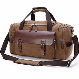 Travel Duffels Canvas Bag, Aidonger Vintage Weekender Sports