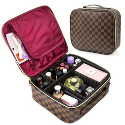 LUXOURIA Travel Makeup Bag Professional Large Cosmetic Bag L