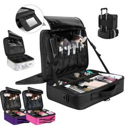 Luxspire Travel Makeup Box Pro Carring Cosmetic Case Makeup