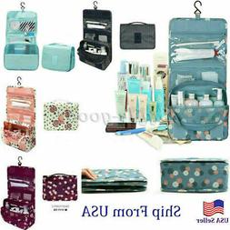 Travel Toiletry Bag Polyester Organizer Cosmetic Case Makeup