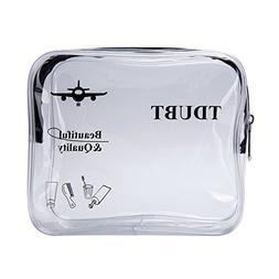 TSA Approved Clear Travel toiletry Bag | Quart Sized with Zi