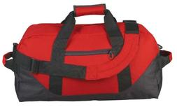 """18"""" Two Tone Duffle Bag in Red"""