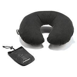 Swiss Gear Ultra-lite' Inflatable Pillow in Pouch, Black