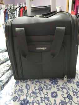 underseat carry on rolling travel luggage bag