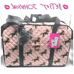 Betsey Johnson Unicorn Quilted Weekender Travel Large Duffel