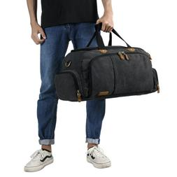 Unisex Oversize Duffel Bag Canvas Sport Gym Weekend Bags Tra