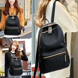 US STOCK Women Black Small Backpack Travel Oxford Cloth Hand
