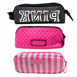 Victoria's Secret Makeup Bag Pouch Cosmetic Pencil Case Pink