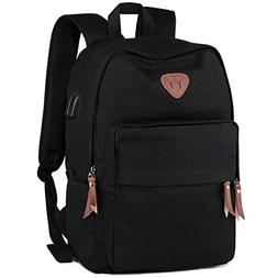 IbagbarStudent Backpack, Canvas School Backpack Durable Tr