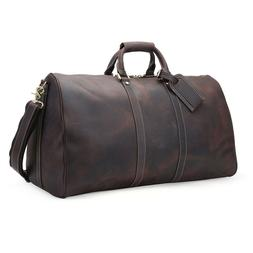 Vintage Large Men's Leather Travel Luggage Duffle Gym Carry