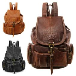 Vintage Women Backpack Leather Travel Hand Shoulder School B