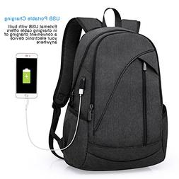 ibagbar Water Resistant Laptop Backpack with USB Charging Po