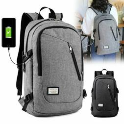 Waterproof Backpack Women Men School Bags USB Charge Travel