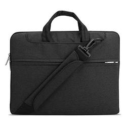 Lacdo 15.6 Inch Waterproof Fabric Laptop Shoulder Bag Notebo
