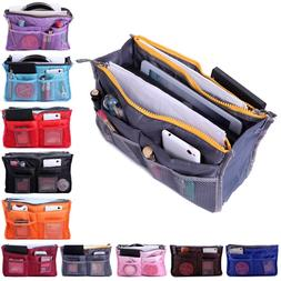 women 13 pocket large travel insert handbag