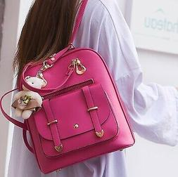 Women's Backpack Travel Pu Leather Handbag Shoulder Bag Fash