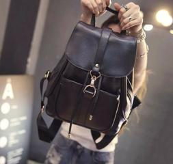 Women's New Backpack Travel Leather Handbag Rucksack Shoulde