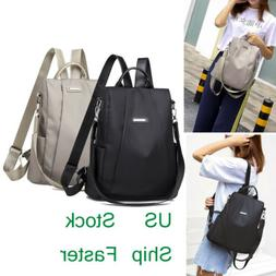 Women Waterproof School Bag Anti-theft Backpack Shoulder Tra