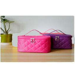 Womens Travel Cosmetic Makeup Bag Toiletry Case Storage Pouc