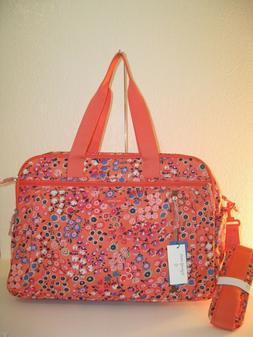 Vera Bradley Xlarge Coral Meadow Lighten Up Weekender Travel