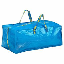 IKEA Zippered Storage Bag Shopping Travel Laundry Tote Bags